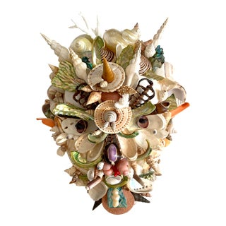Commedia Del Arté 'Pedrolino' Shell Mask For Sale
