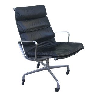 1960s Vintage Charles Eames for Herman Miller Ea 216 Soft Pad Easy Chair For Sale