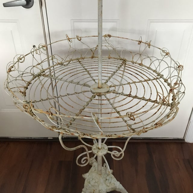 Antique French Tiered Wire Stand - Image 4 of 9