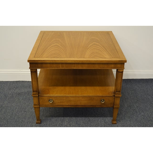 "Traditional Drexel Heritage Triune Collection Mahogany 26"" Square End Table For Sale - Image 3 of 13"