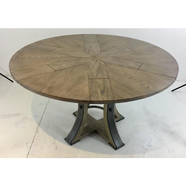 2010s Sarreid Co. Modern Tower Jupe Extendable Gray Wood Dining Table For Sale - Image 5 of 6