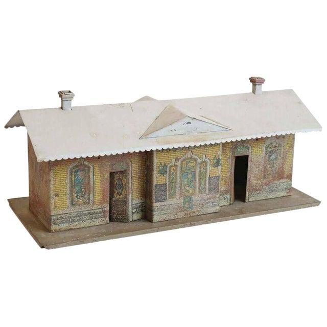1930s Vintage Miniature Train Depot For Sale