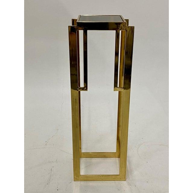 Brass Mastercraft Hollywood Regency Style Patinated Brass Pedestal For Sale - Image 8 of 8