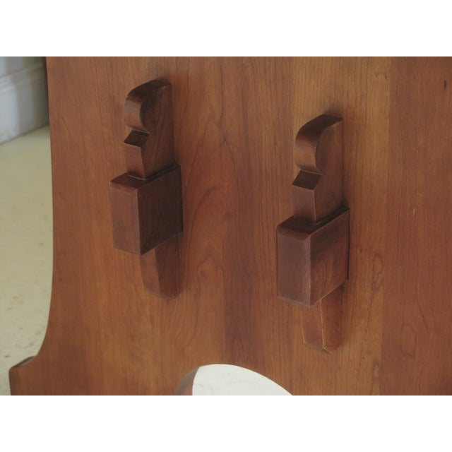 1990s 1990s Vintage Stickley Cherry Mission Style Cherry Dining Room Table For Sale - Image 5 of 12