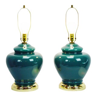 the san pair local big products vintage lamp of lamps green flea glass table a