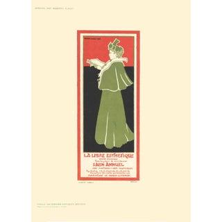1897 Gisbert Combaz La Libre Esthetique Lithograph For Sale