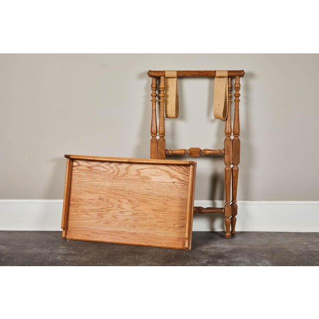 Late 19th Century 19th Century Oak Butler's Tray Table For Sale - Image 5 of 9