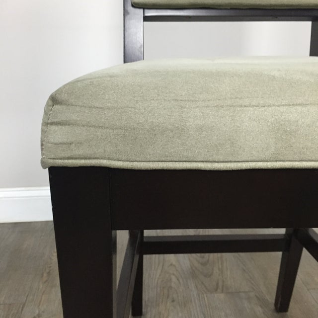 Crate & Barrel Upholstered Bar Stools - A Pair - Image 8 of 11