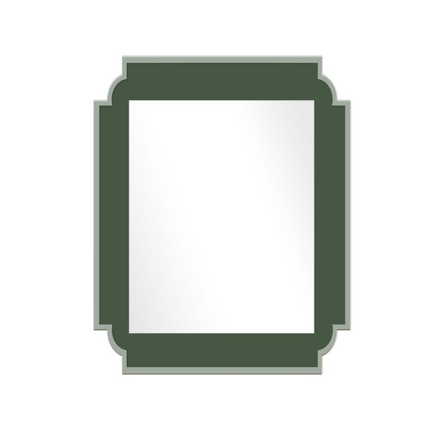 Contemporary Fleur Home x Chairish Camp Mirror in Duck Green, 24x36 For Sale - Image 3 of 3