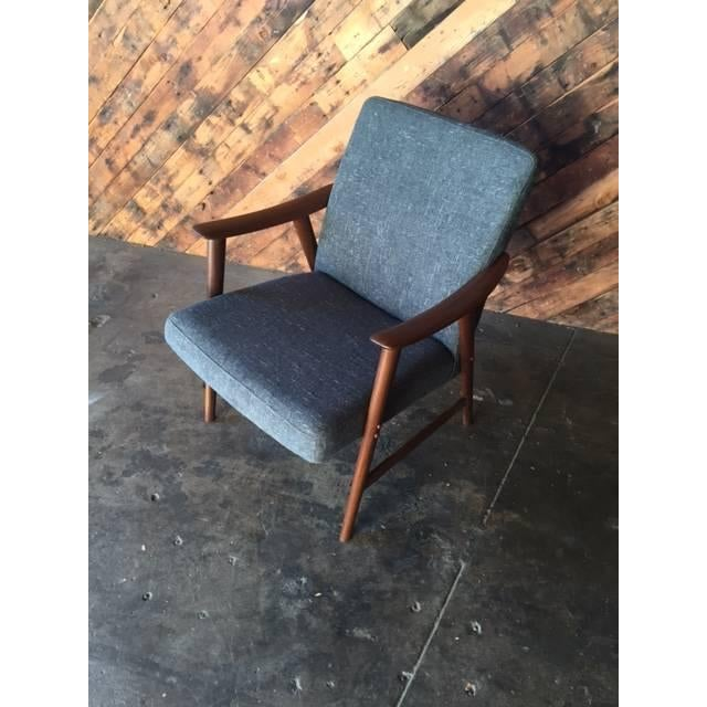Adolf Relling Mid-Century Refinished Gray Chair - Image 5 of 6