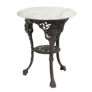 Pair of Ornate French Garden Tables For Sale