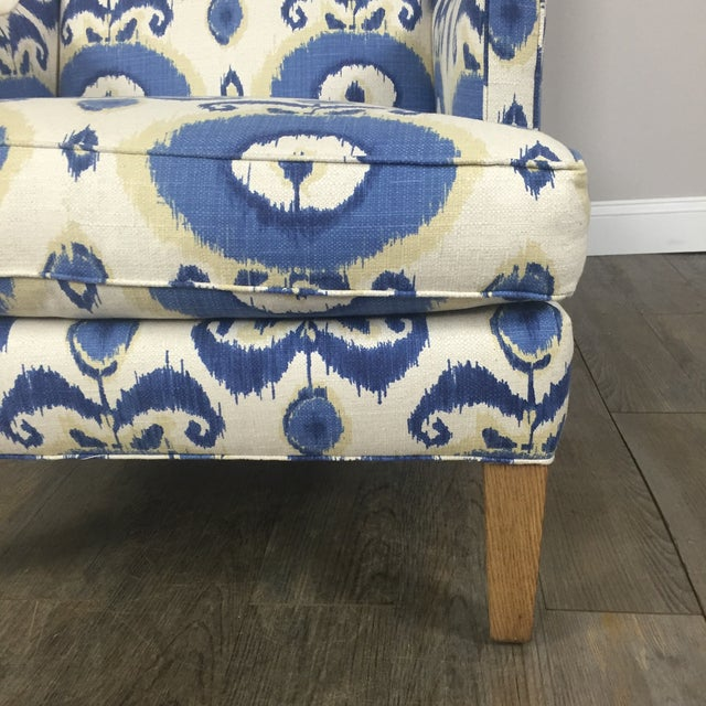 Crate & Barrel Patterned Wingback Chair - Image 6 of 10