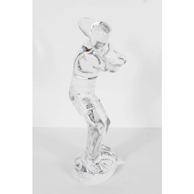 Baccarat Baccarat Art Glass Male Tennis Player Crystal Figurine For Sale - Image 4 of 9