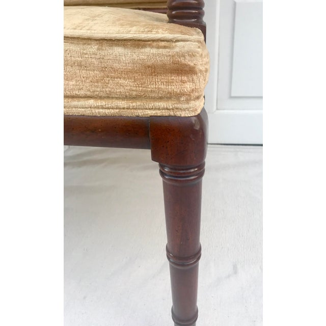 1960s Traditional Hickory Mahogany Faux Bamboo Chair For Sale In Los Angeles - Image 6 of 8