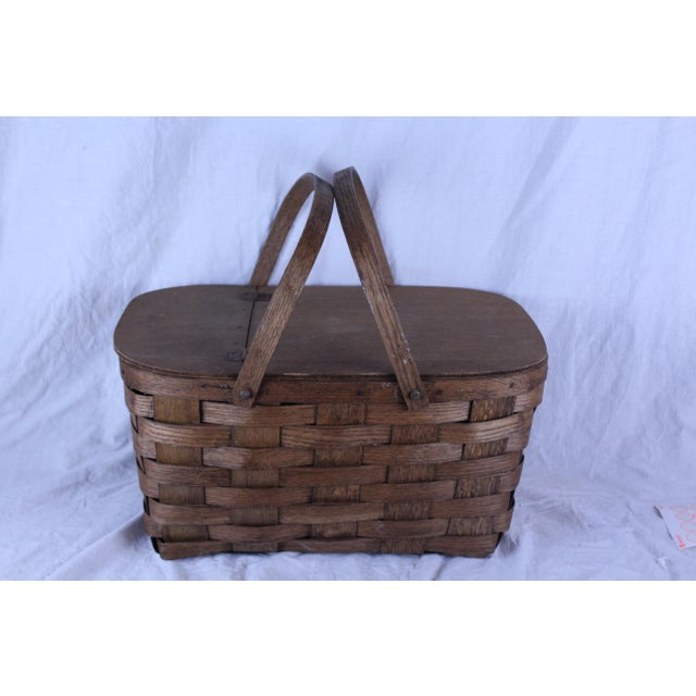 Early 20th Century Antique Picnic Basket For Sale - Image 4 of 6