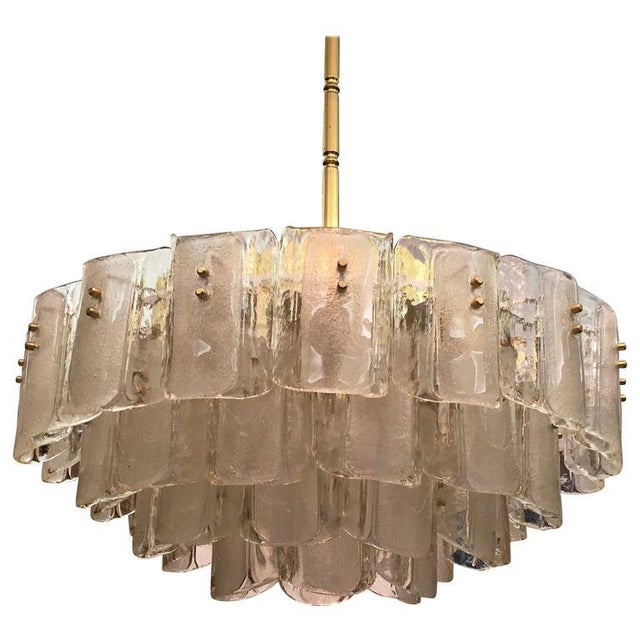Large Crystal Glass Chandelier, 1960s For Sale - Image 11 of 11