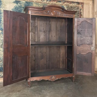 Stunning 19th Century Country French Solid Walnut Armoire Preview
