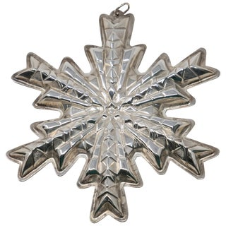 1978 Gorham Sterling Snowflake Ornament For Sale