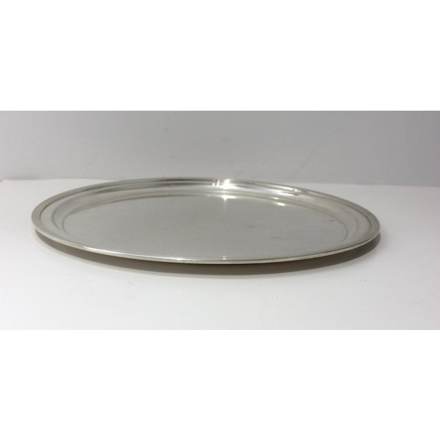 Silver Mid-Century Modern Tiffany & Co Sterling Silver Tray For Sale - Image 8 of 10