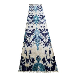 """Hand Knotted Turkish Ikat Runner - 2'6"""" x 11''1"""""""