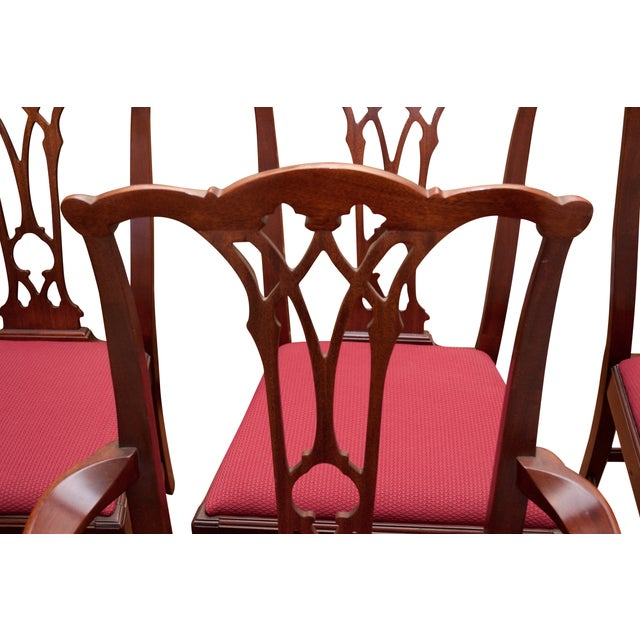 Chippendale Style Mahogany Dining Chairs - S/8 - Image 8 of 10