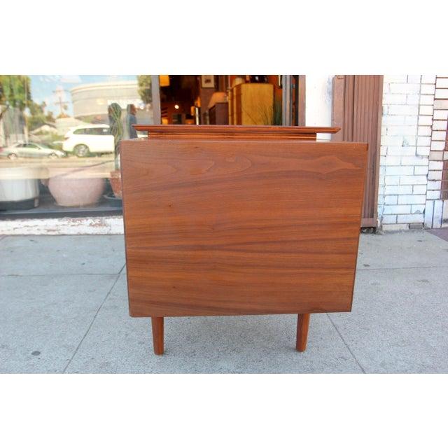 Mid-Century Modern Mid-Century Style Walnut Desk For Sale - Image 3 of 13
