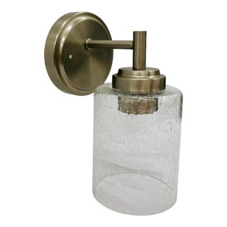 Modern Metal & Glass Sconce For Sale
