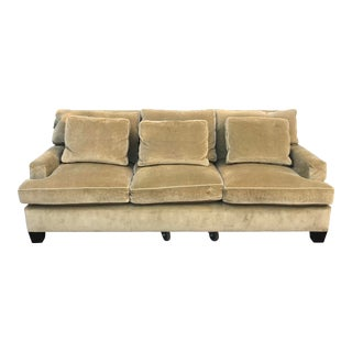 Baker Velvet Green Sofa For Sale
