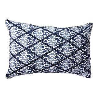 Lee Jofa Embroidered Lumbar Pillow Cover For Sale