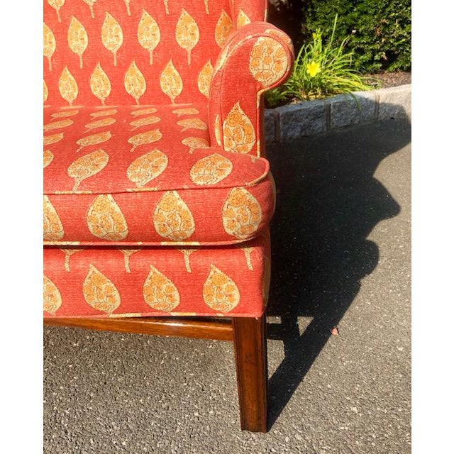 Wood 1980s Vintage Kittinger Colonial Williamsburg Wingback Chair For Sale - Image 7 of 10