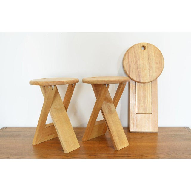 1970s Pair of Foldable Stools by Roger Tallon, 1970 For Sale - Image 5 of 5