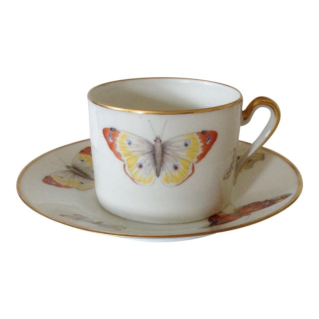 Limoges Cup and Saucer - Image 1 of 5