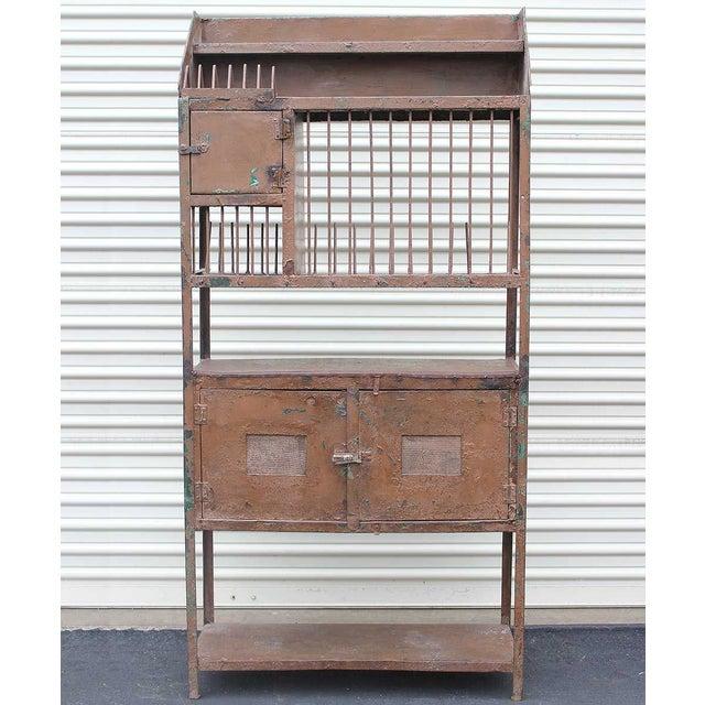 Vintage Industrial Brown Iron Rack - Image 2 of 5