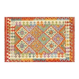 "Nalbandian - Contemporary Afghan Maimana Kilim - 3'3"" X 5' For Sale"