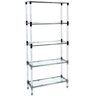 Lucite & Stainless Steel Etagere by Amparo Calderon Tapia For Sale