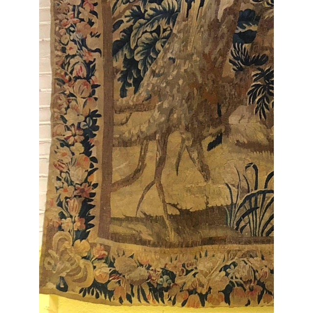White A 17th / Early 18th Century Flemish Pastoral Tapestry Prov. Christies NYC. For Sale - Image 8 of 12
