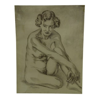 "Original Drawing Sketch ""Betsy"" by Tom Sturges Jr. 1950"