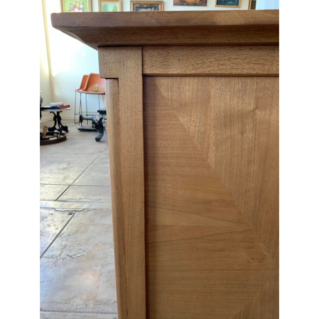 Mid-Century Modern Mid Century Modern Burl Wood Credenza With Inset Marble Top - American of Martinsville For Sale - Image 3 of 12