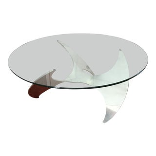 1960s Mid-Century Modern Knut Hesterberg for Ronald Schmitt Propeller Coffee Table For Sale