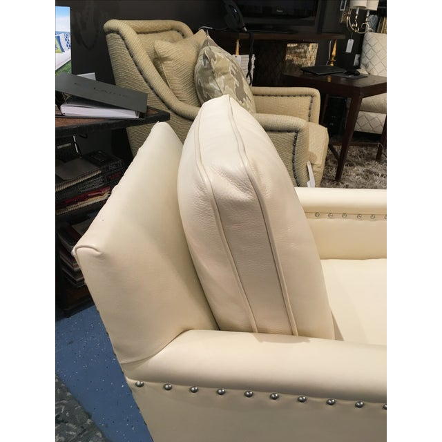 CR Laine Gotham Creme Leather Chair - Image 5 of 8