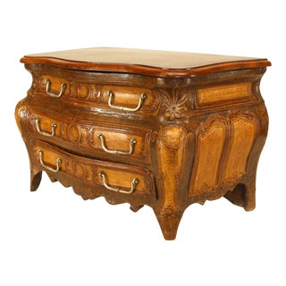 Early 19th C. French Regence Style Miniature Commode-Form Box For Sale