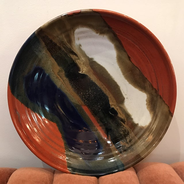 Earth Tone Studio Pottery Plate - Image 2 of 6