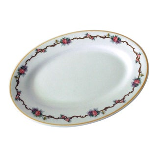 1940s Shabby Chic White Restaurantware Platter For Sale