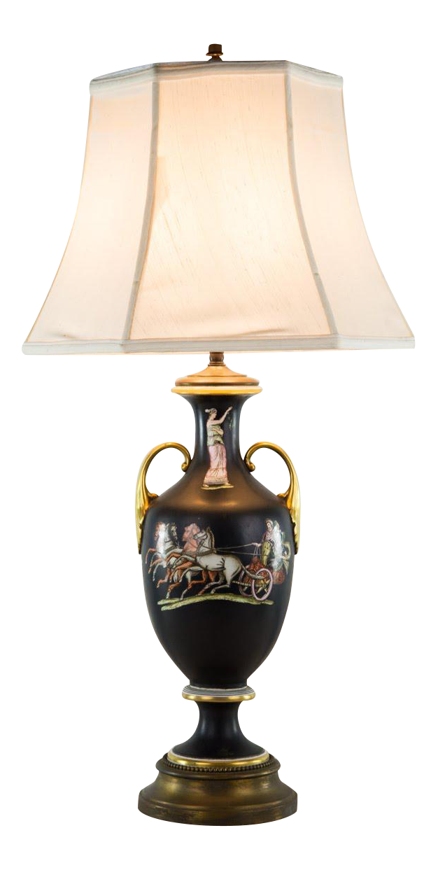Classical Italian Urn Double Light Table Lamp Chairish