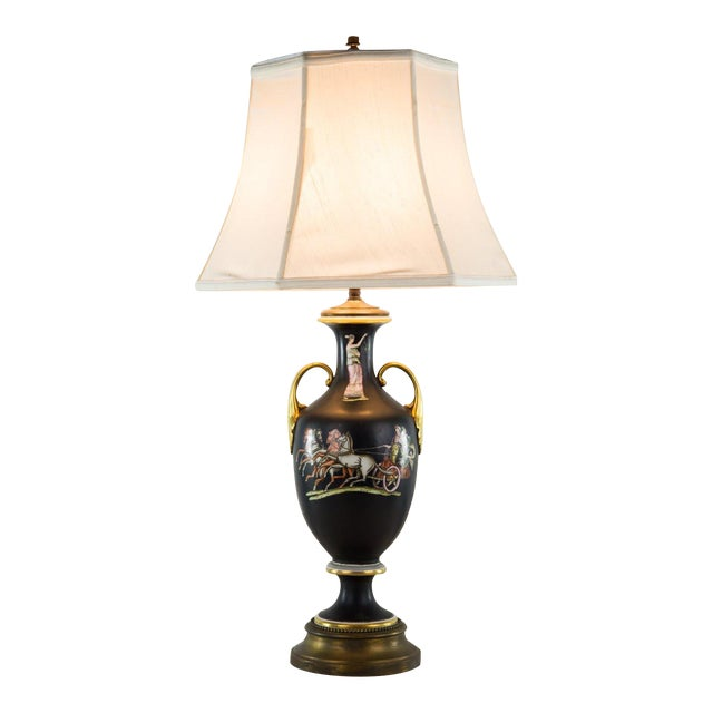 Classical Italian Urn Double Light Table Lamp Chairish