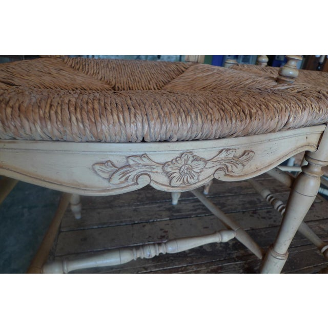 Wood Four 19th Century French Painted Pine Provençal Arm-Chairs. For Sale - Image 7 of 12