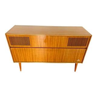 1950s Grundig Walnut Stereo Console/Cabinet Ks 620 U For Sale