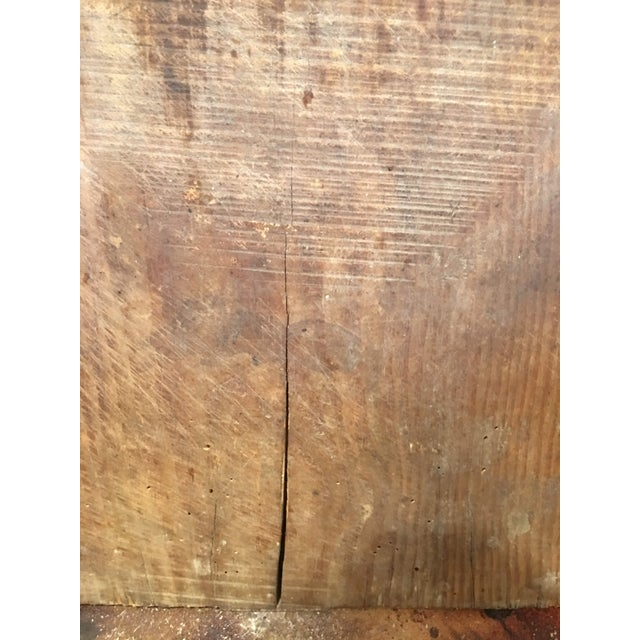 Brown Antique Rustic Bread Board For Sale - Image 8 of 11