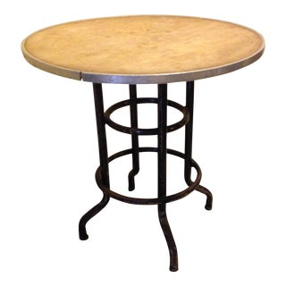 Contemporary Repurposed Side Table For Sale