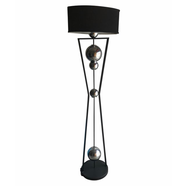 Fantastic floor lamp in the Art Deco revival style great form, condition, and quality. And LAMP SHADE IS INCLUDED